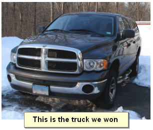 Win a Car or Truck from Sweepstakes