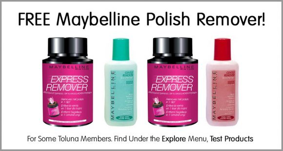 Free Maybelline Polish Remover