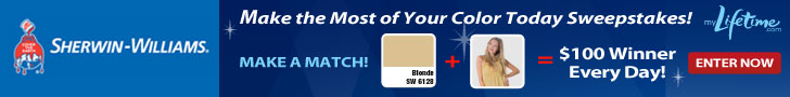 Lifetime TV Sherwin Williams instant win game Sweepstakes
