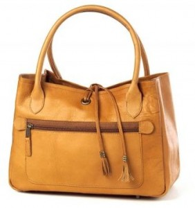 clava leather tassle handbag