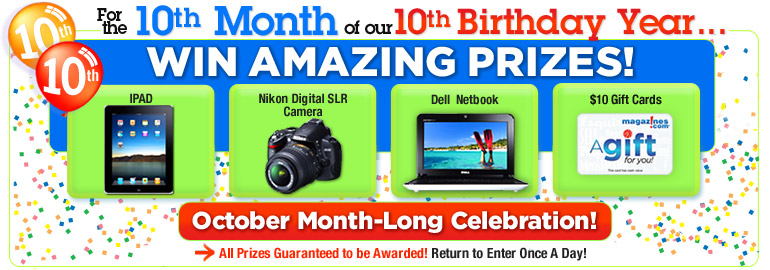 magazines.com birthday sweepstakes