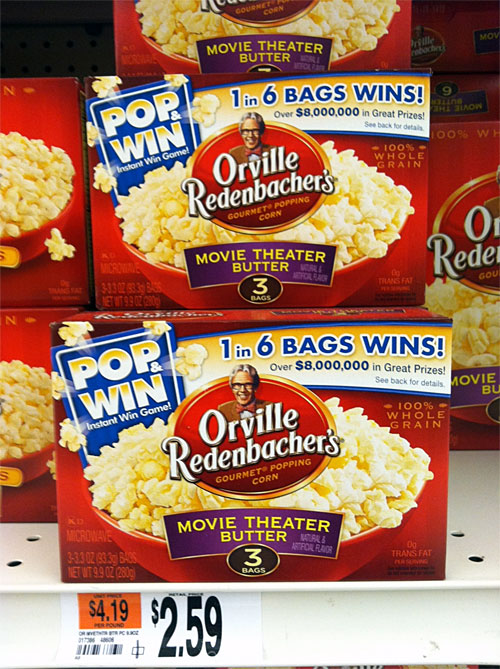 how to get game pieces and win the orville redenbacher pop to win game
