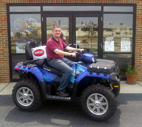 Mike wins an ATV