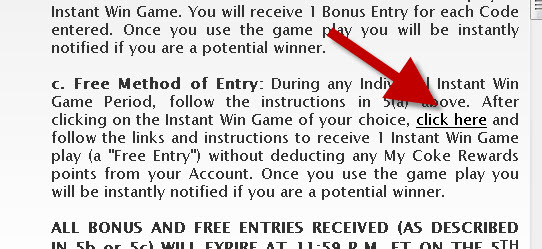 how to get free plays in the My Coke Rewards instant win game