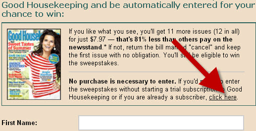 good housekeeping alternative entr form link