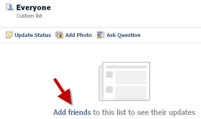 change Facebook back to original setup by creating a list