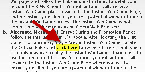 mycokerewards instant win game help