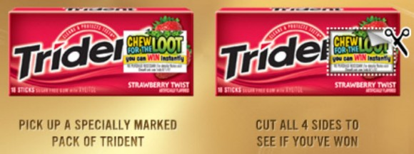 specially marked trident gum