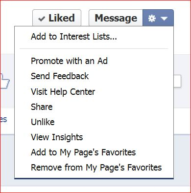 Setup a Facebook Interest List
