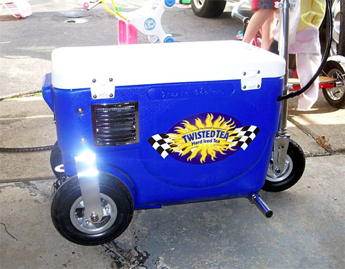 motorized cooler from twisted tea