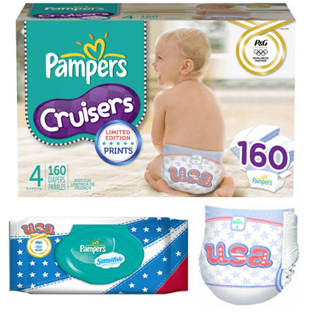 pampers usa olympic limited edition diapers