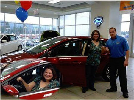 Lydia wins a Ford Focus