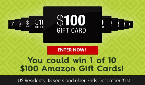 Click to Enter Avocado of Mexico's Sweepstakes for your chance to win 1 of 10 $100 Amazon gift cards