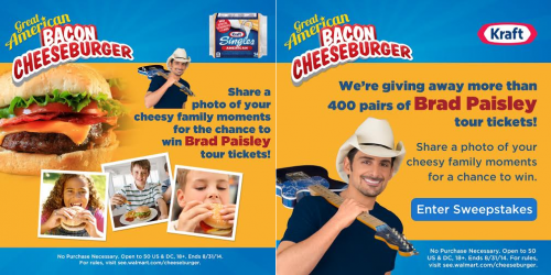 Kraft Brad Paisley Cheeseburger Sweepstakes