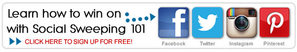 Social Sweeping 101 - Learn how to win on Facebook, Twitter, Pinterest, and Instagram