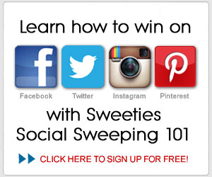 Sweeties Social Sweeping 101 - learn how to win cash and prizes on Facebook, Twitter, Pinterest and Instagram