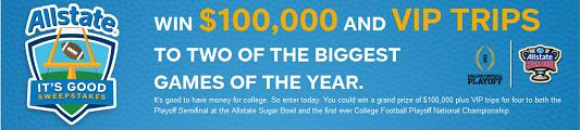 Allstate It's Good Sweepstakes Winner Announced