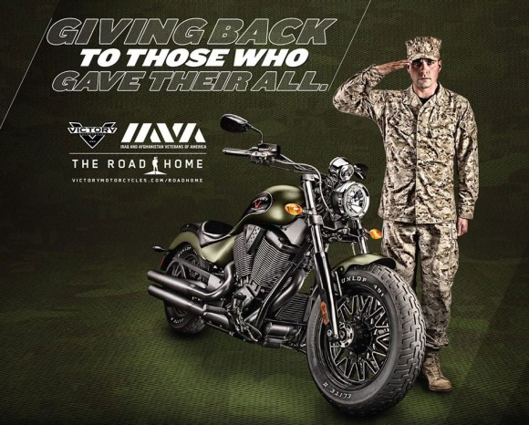 """Victory Gunner Motorcycle """"The Road Home"""" Poster"""