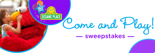 Pampers Rewards Sesame Place Come And Play Sweepstakes