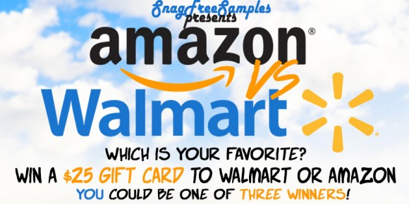 snagfreesamples.com Amazon or Walmart Gift Card Giveaway