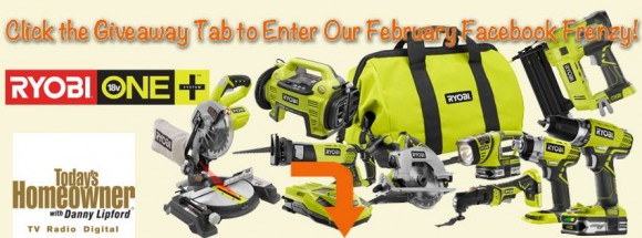 February Frenzy-RYOBI Tools Prize Pack Giveaway