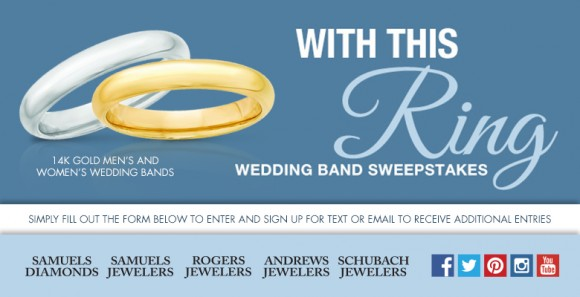 Samuels Jewelers With This Ring Wedding Ring Sweepstakes