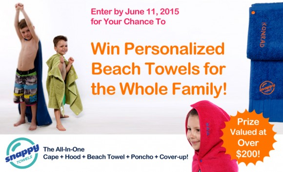 SnappyTowels Free Beach Towel Giveaway