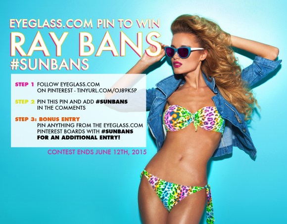 Eyeglass.com Pin to Win Ray Ban Sunglasses