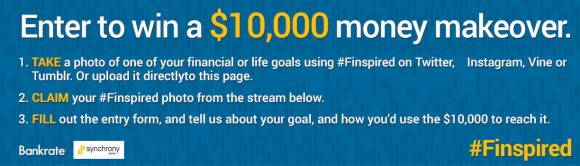 Share with Bank Rate your financial goals and you could win $10,000 in cash and a money makeover to kick-start your plan to succeed.