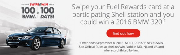 Win a BMW from Shell