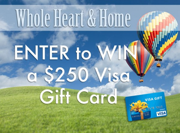Whole Heart & Home $250 Visa Gift Card Giveaway