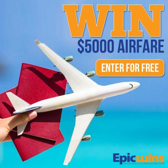 Epic Wins Free Flying $5,000 Airfare Giveaway