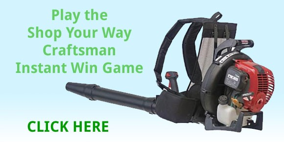 Shop Your Way Craftsman Leaf Blower Instant Win Game