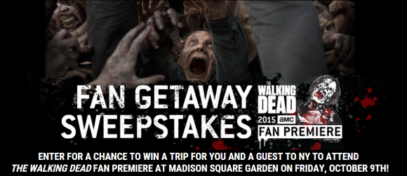 The Walking Dead Fan Getaway Sweepstakes Weekly Codes