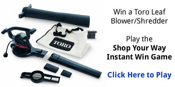 in a Toro Leaf Blower and Shredder or Free Shop Your Way points