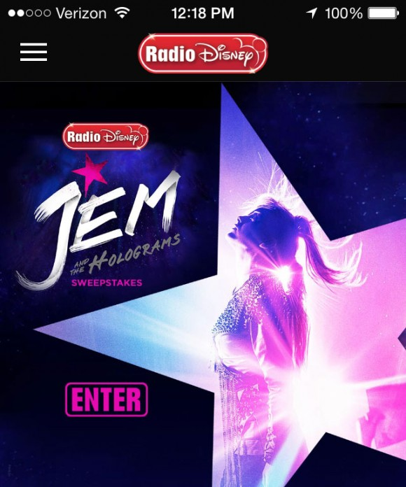 Radio Disney Jem and the Holograms Sweepstakes
