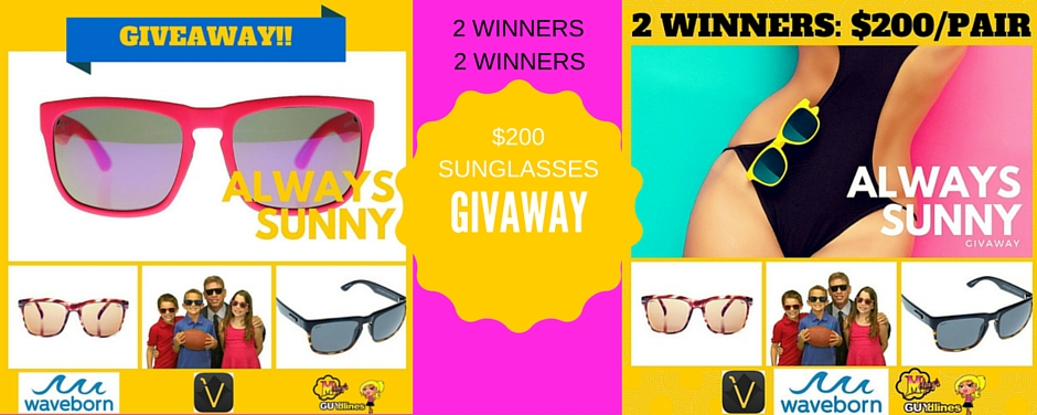 Vizo & Waveborn Sunglasses Giveaway