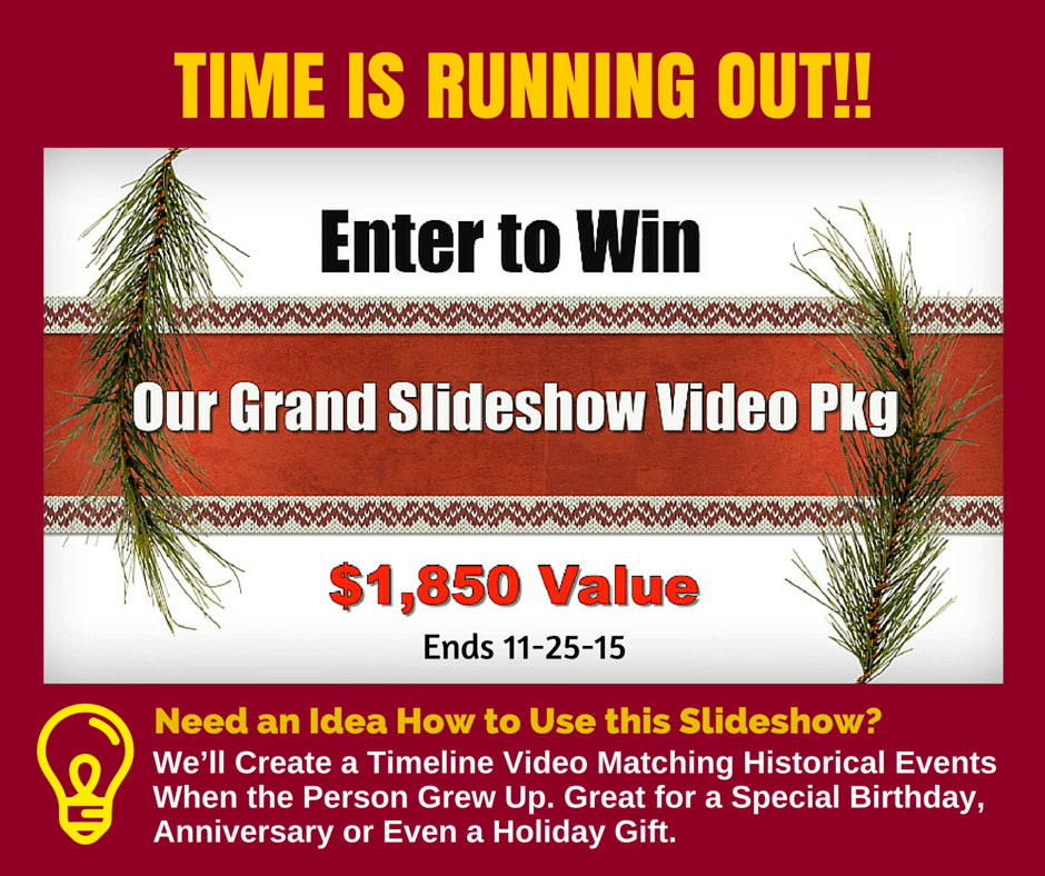 Slideshow Memories Holiday Giveaway