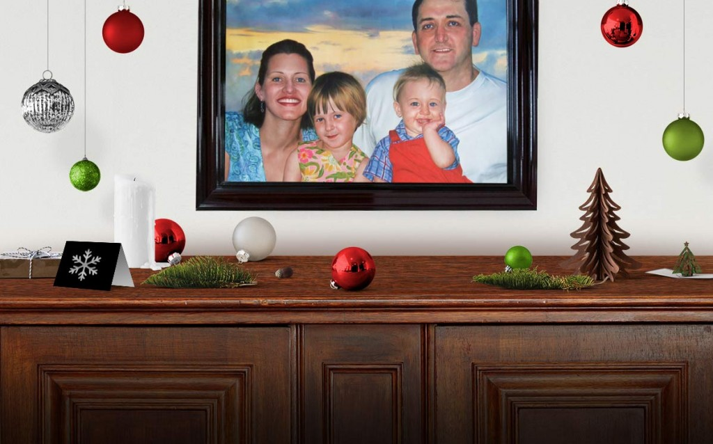 Win a Personalized Oil Portrait Value: $548 - The Best Christmas Gift!