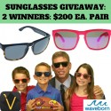 Vizo & Waveborn Sunglasses Giveaway 12/1/15 1PP13+