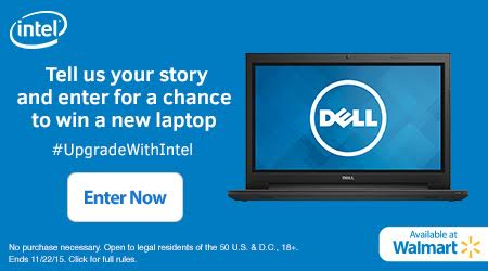 Sweeties Sweeps Walmart Intel Laptop Giveaway
