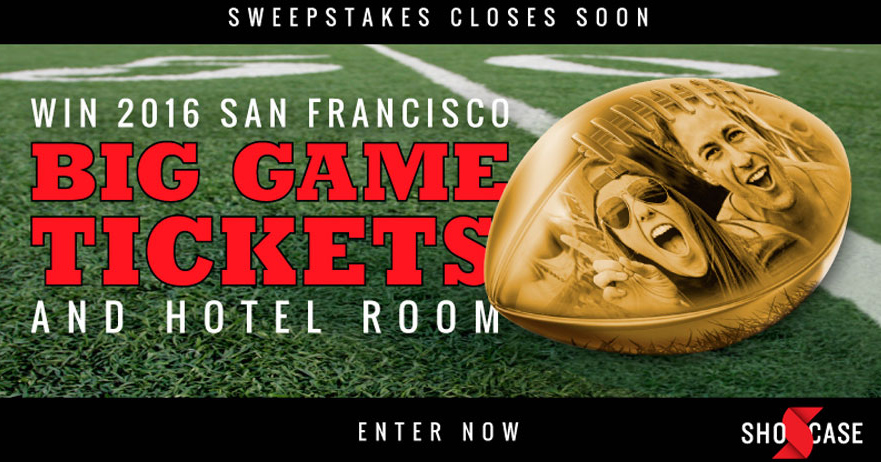 The Shocase Special Teams Super Bowl Trip Sweepstakes