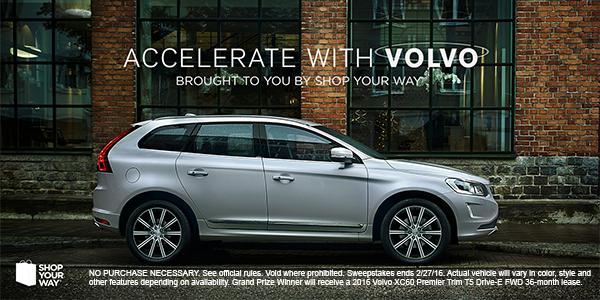 Shop Your Way Accelerate with Volvo Sweepstakes