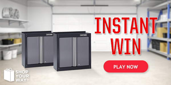Shop Your Way Craftsman Cabinet Instant Win Game
