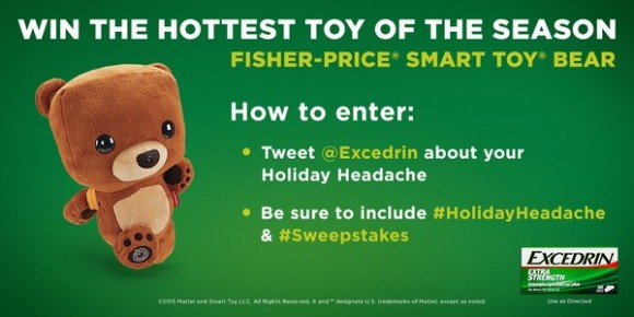 Excedrin Holiday Headache Twitter Sweepstakes
