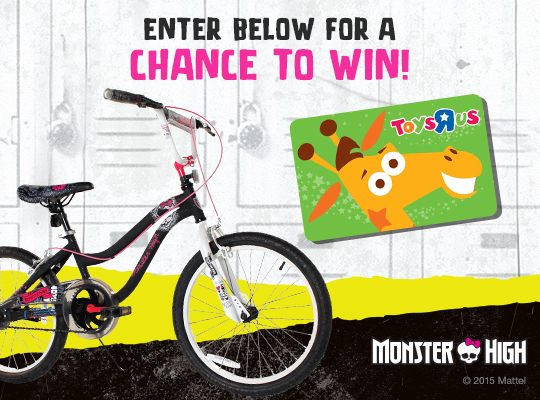 Monster High Bike ToysRUs Gift Card Giveaway