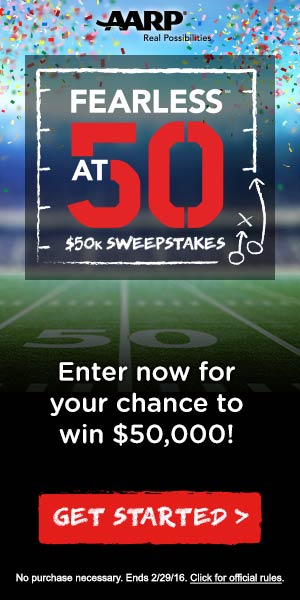 Win $50,000 in the AARP Fearless@50 Sweepstakes