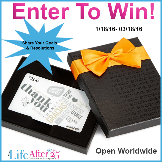 Your Life After 25 $100 Amazon Gift Card Giveaway