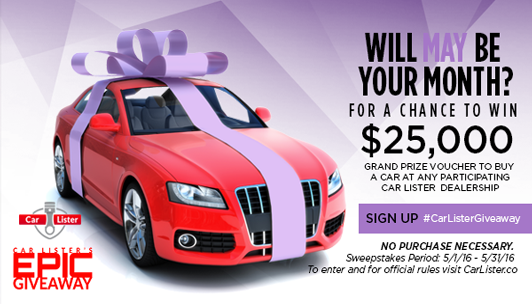 Good! Car Lister Epic $25,000 Year Long Sweepstakes
