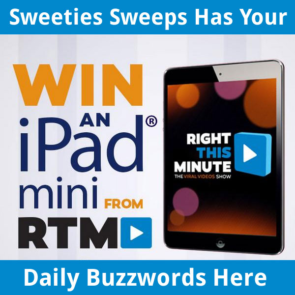 rightthisminute com ipad giveaway rightthisminute ipad mini sweepstakes daily buzzwords 11 9991